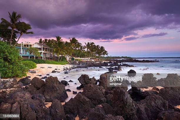 beach house mit idyllische Küste-maui, hawaii