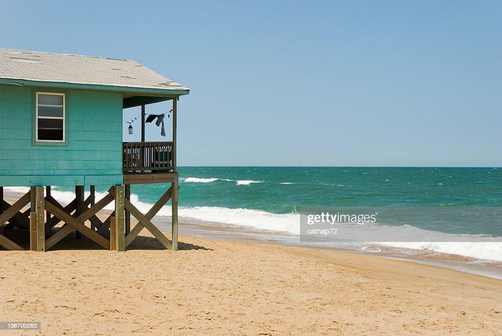 Surf et le Beach House avec vue sur l'océan et l'Horizon : Photo