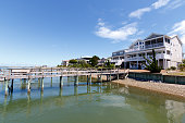 Luxury vacation rental houses on the inter coastal waterway, North Carolina