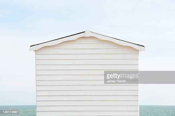 Beach hut and sea