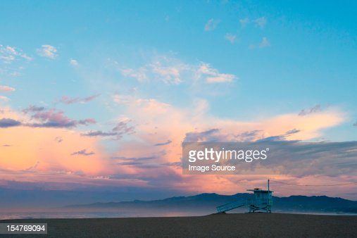 Beach hut, venice beach, california, usa : Stock Photo