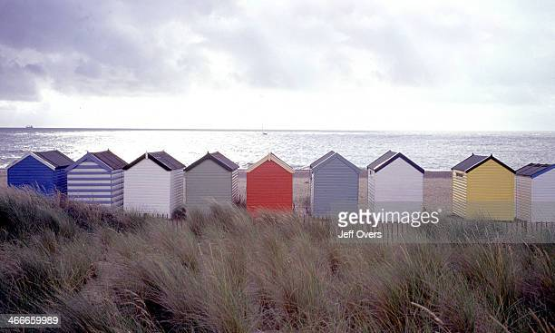 Beach huts at Southwold on the Suffolk Coast