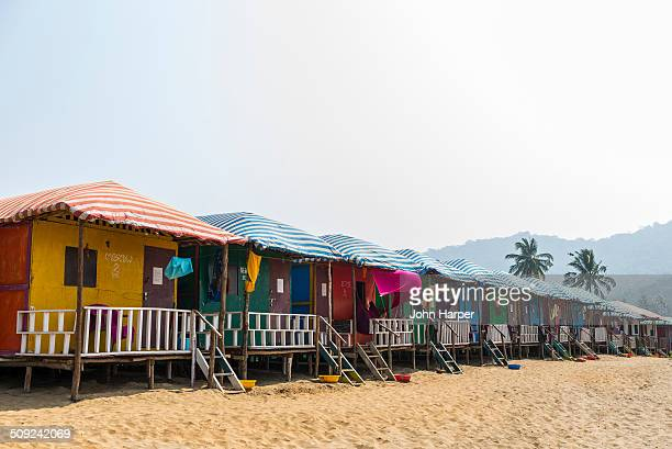 Beach huts in Goa, Konkan, India