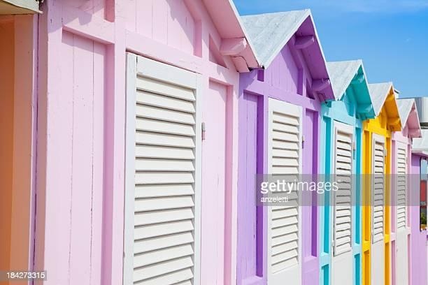 Beach huts in Rimini