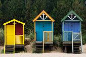 Beach huts in WellsNextTheSea Norfolk United Kingdom