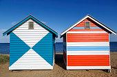 Colourful Beach Huts on Brighton Beach - Melbourne