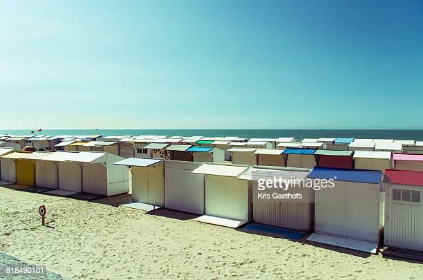 Beach huts on Blankenberge beach