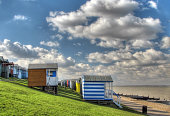 Beach huts on Tankerton Slopes, Whitstable