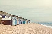 Beach huts on the beach