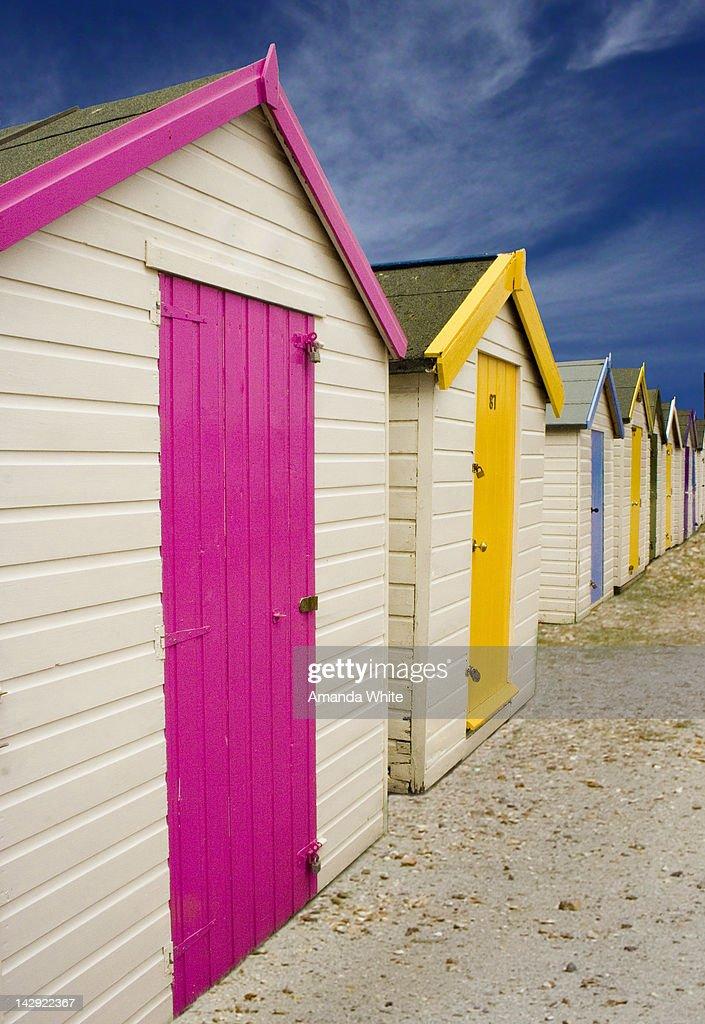 Beach Huts : Foto stock