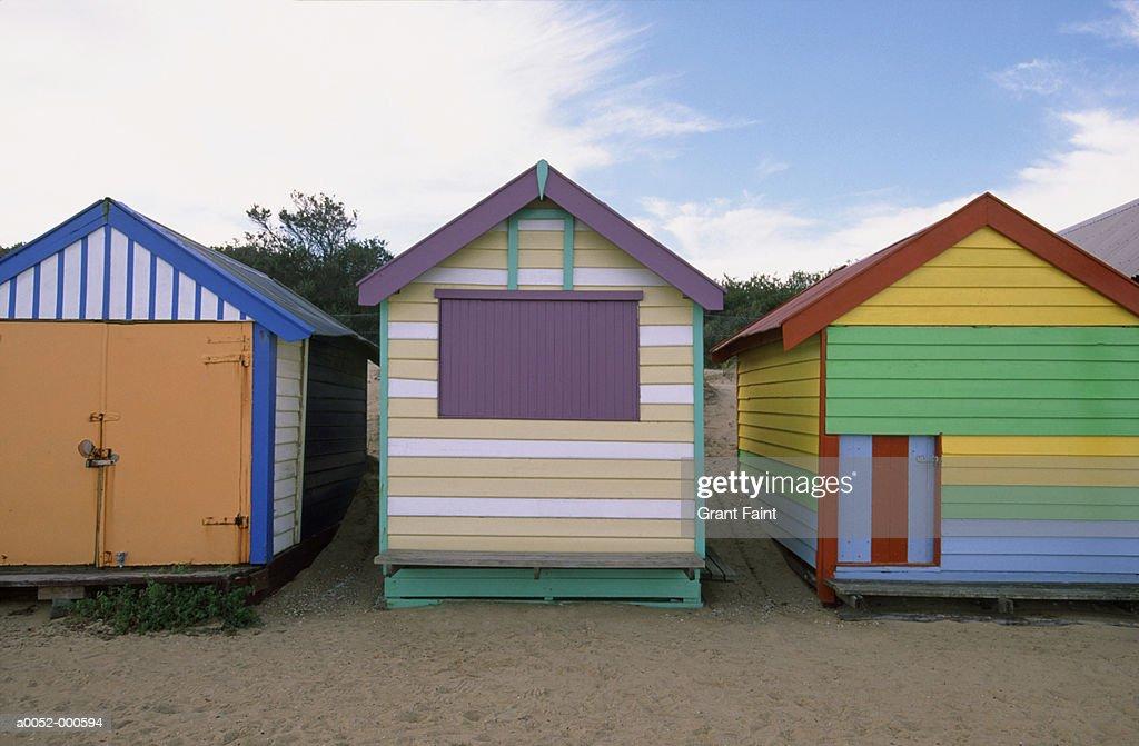 Beach Huts : Stock Photo