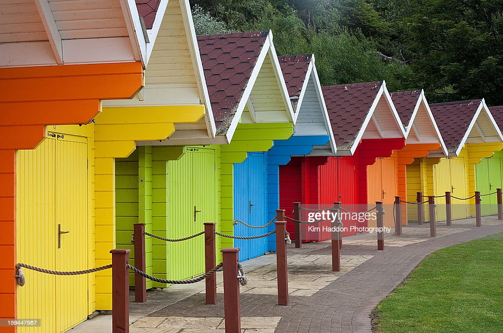 Beach Huts - Scarborough : Stock Photo