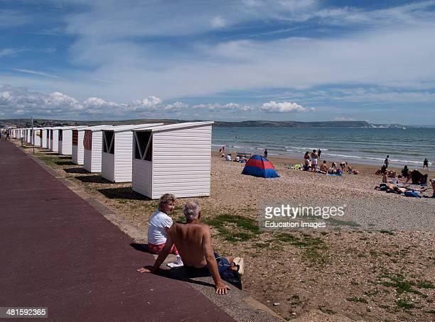 Beach huts Weymouth Dorset UK