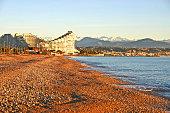 Beach in Antibes, France