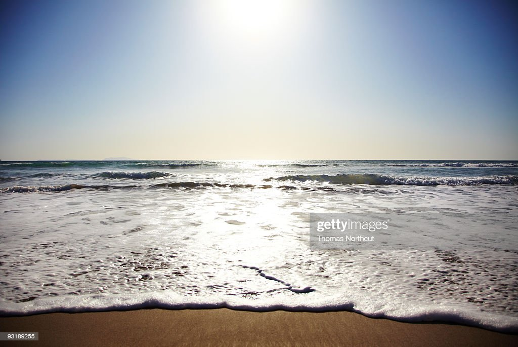 Beach in California on Pacific Ocean  : Stock Photo