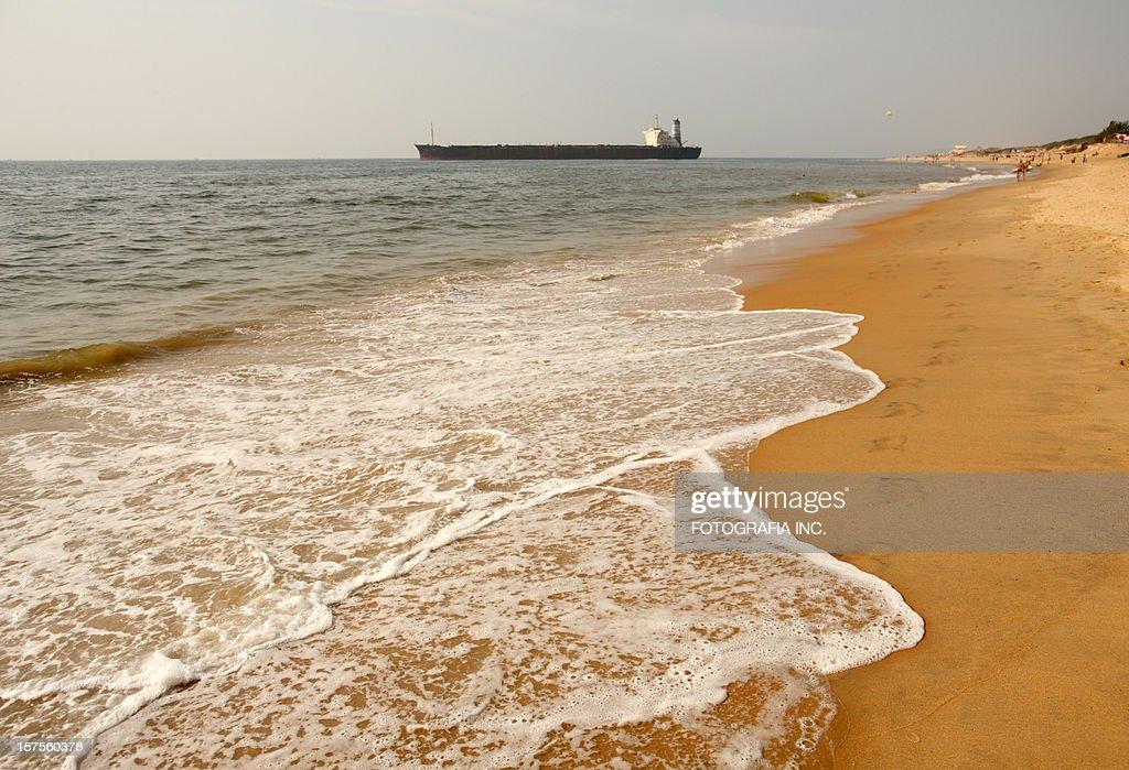 Beach in Candolim : Stock Photo