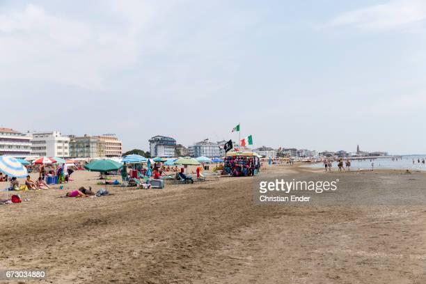Beach in Caorle near Venice in Italy