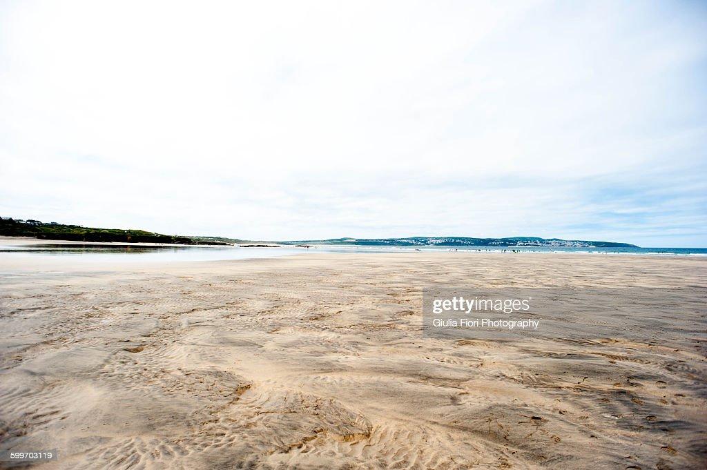 Beach in Gwithian, Cornwall, UK