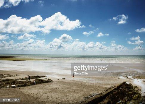 Beach in Jullouville, Normandy