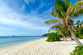 Idyllic beach in the Mamanuca Islands in Fiji