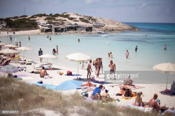 Beach in Ses Illetes, Formentera