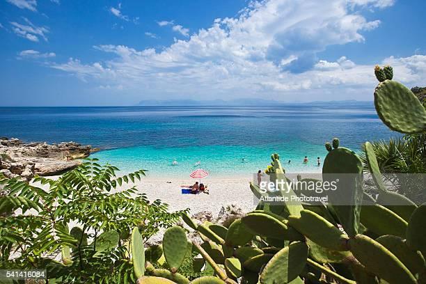 Beach in Zingaro Nature Reserve on Sicily