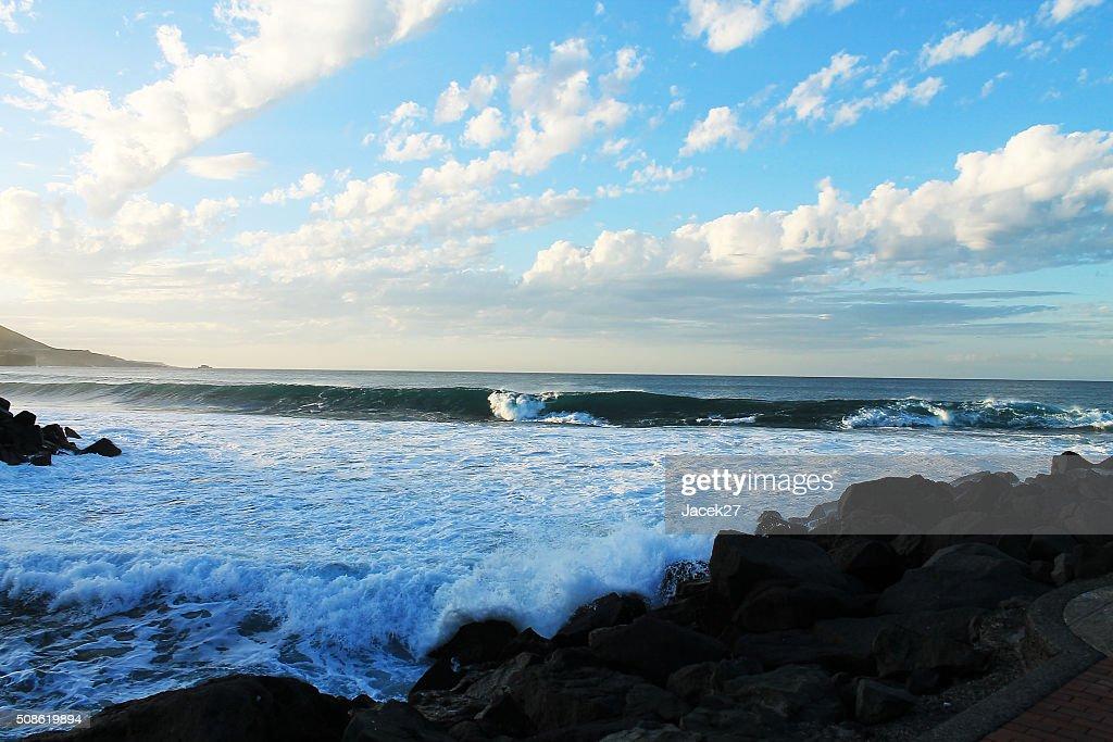 Beach  Las Paslmas - Spain. : Stock Photo