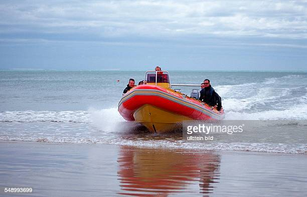 Beach launch with rubber dinghy South Africa Port Elizabeth Ibhayi