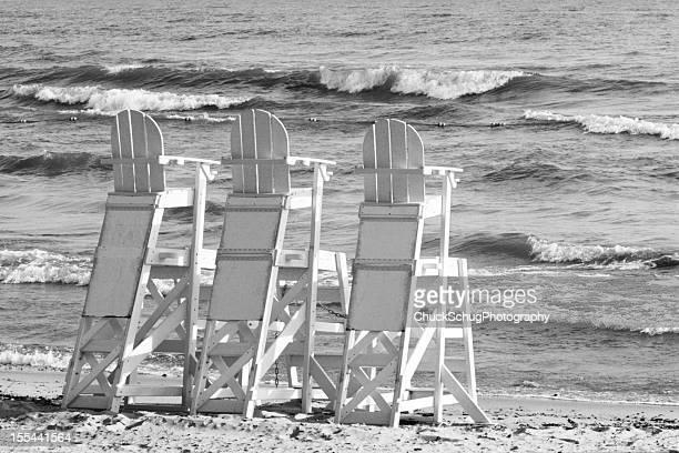 Beach Lifeguard Chairs Ocean Surf