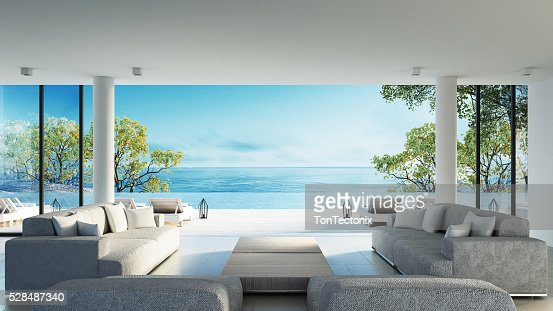 Beach living on Sea view : Stock Photo