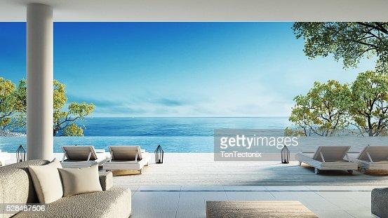 Beach living on Sea view : Stock Photo