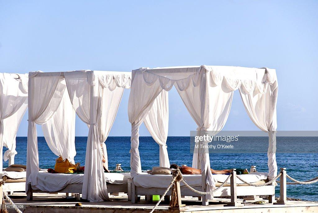 Beach Massage Hut : Stock Photo