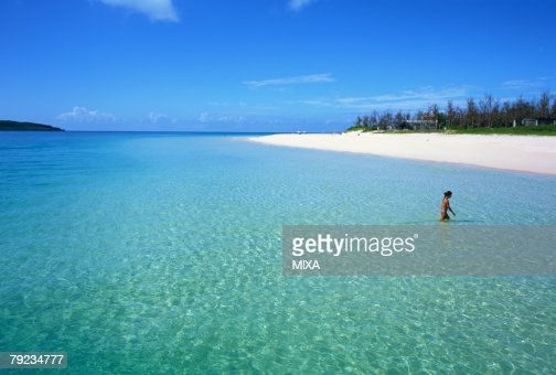 Beach, Miyako Island, Okinawa Prefecture, Japan : Stock Photo