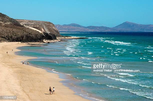 Beach near Sotavento in Fuerteventura