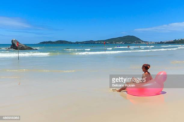Beach of Bombas in Bombinhas city located in the bay of Santa Catarina state southern Brazil A perfect combination of beaches landscapes and cities