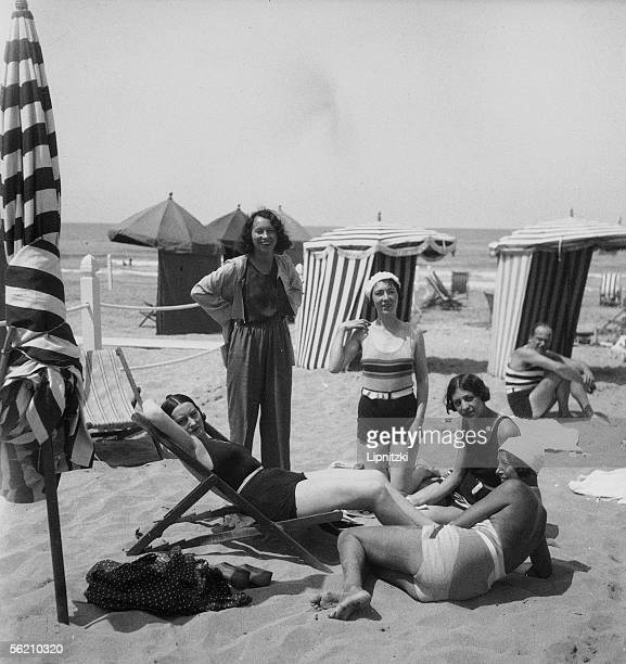 Beach of Deauville august 1936