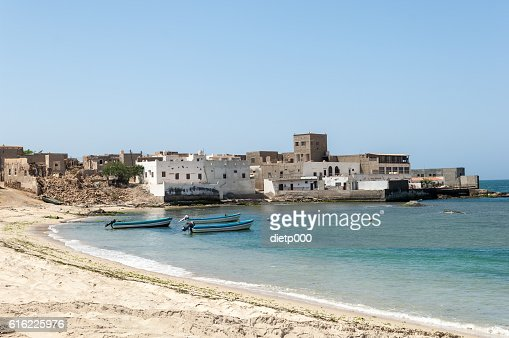 Beach of Mirbat, Salalah, Dhofar, Sultanate of Oman : Stock Photo