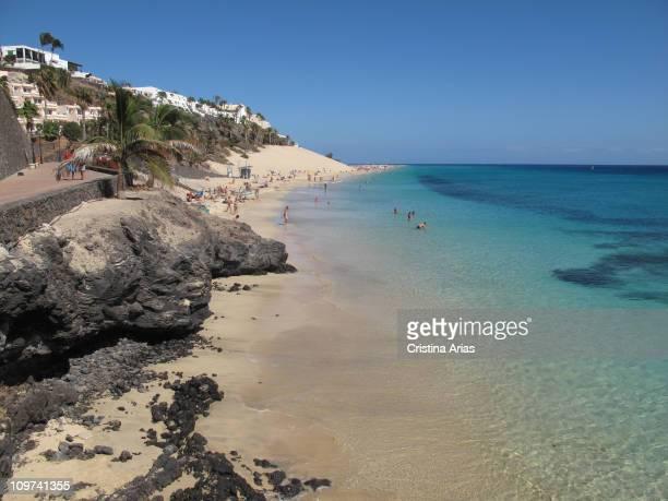 Beach of Morro Jable Fuerteventura Canary Islands september 2010