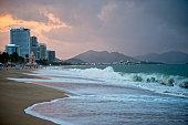 Beach of Nha Trang Khanh Hoa province, Vietnam