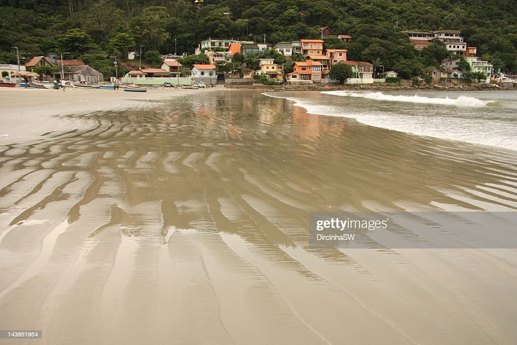 Beach of Pantano do Sul mar : Stock Photo
