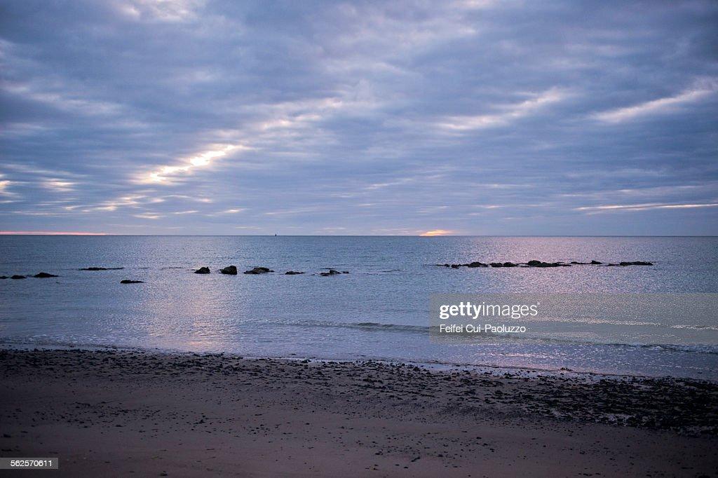 Beach of Rosslare County Wexford Ireland