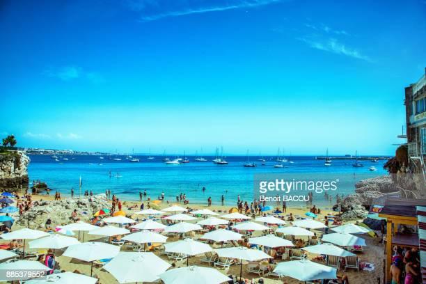Beach of the city of Cascais, Lisbon area, Portugal