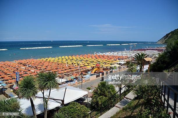 Beach on a summer day in Gabicce, Italy
