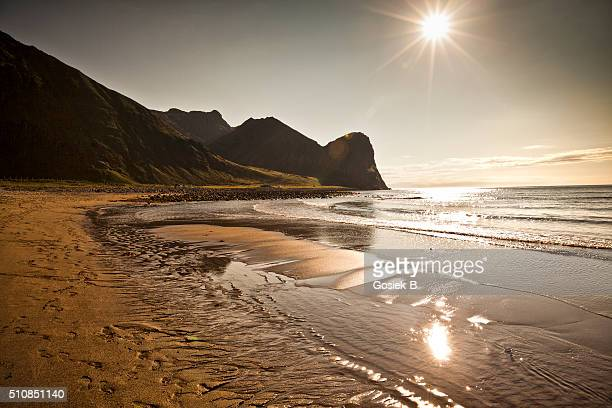 Beach on Lofoten in Unstad, Norway