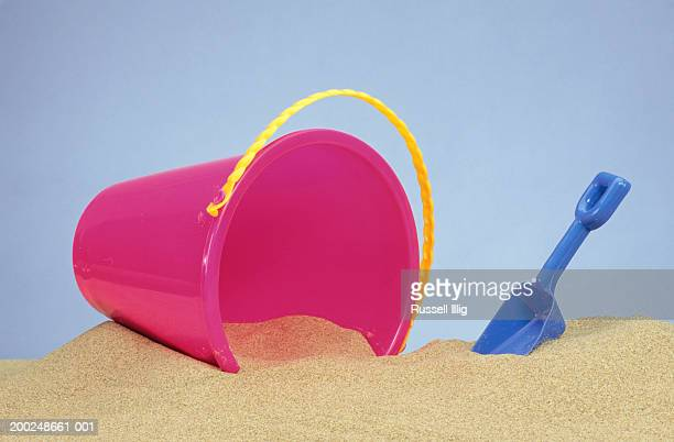 Beach Pail and shovel in sand