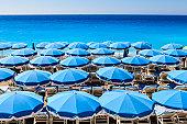 Beach parasols, Nice