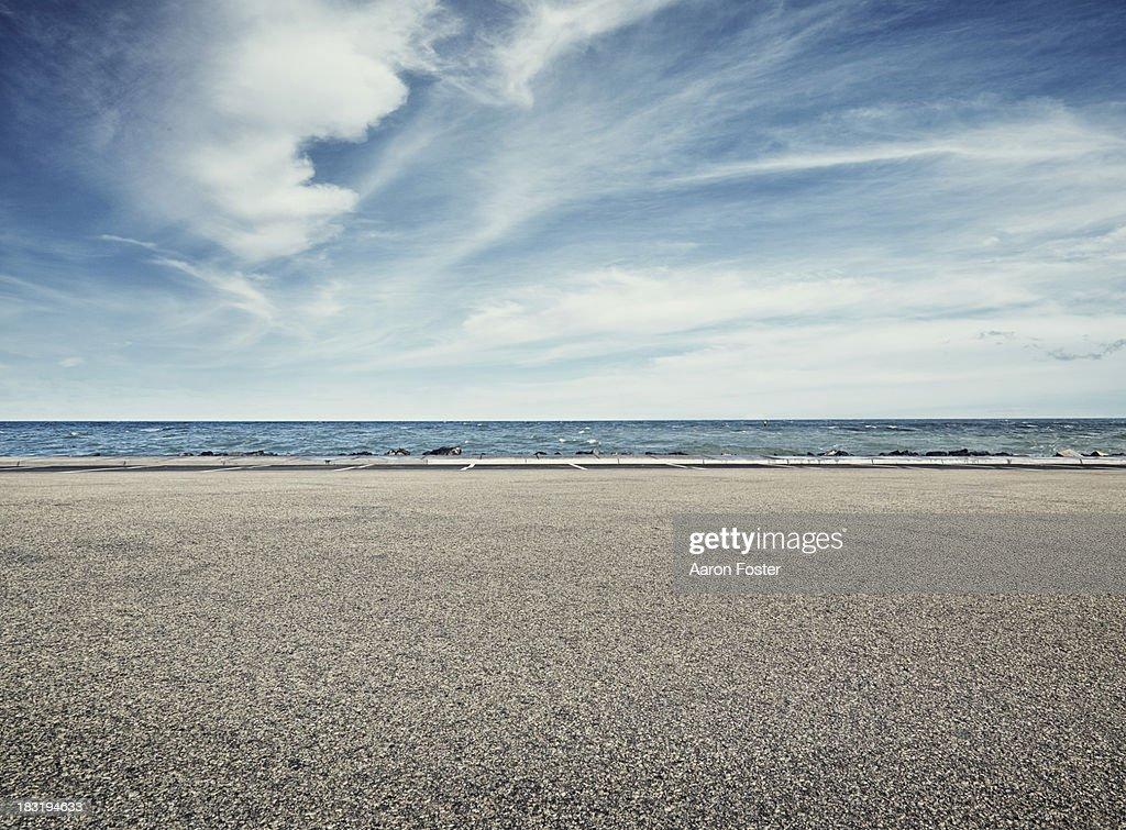 Beach Parking Lot : Stock Photo