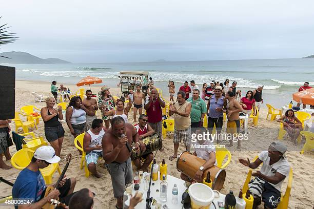 Beach party at Ingleses, north of the island