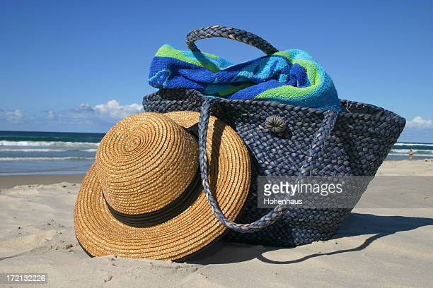 beach party hat and bag