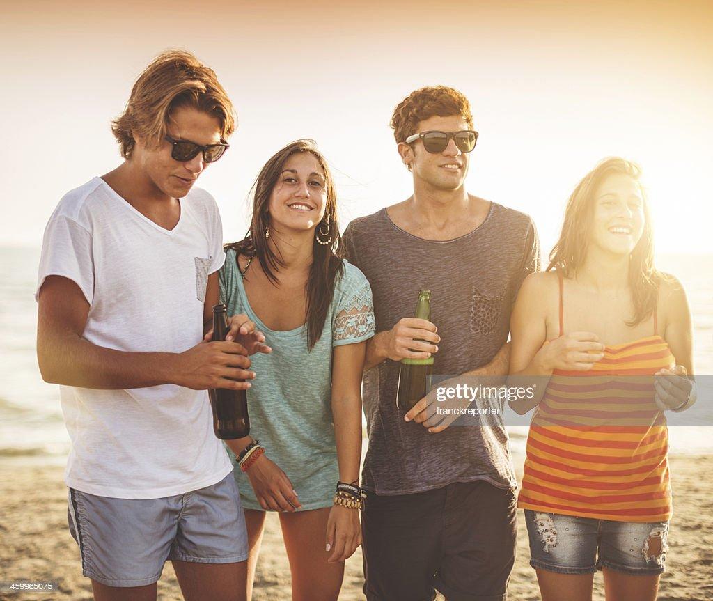 Beach-party : Stock-Foto